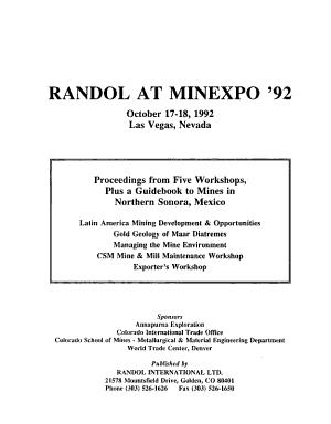Randol at Minexpo '92