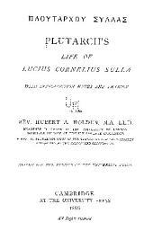 Life of Lucius Cornelius Sulla