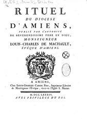 Rituel du diocèse d'Amiens, etc