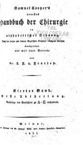 Neuestes Handbuch der Chirurgie in alphabetischer Ordnung: Band 4