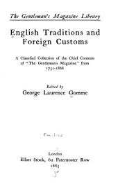 English Traditions and Foreign Customs ...