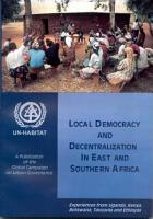 Local Democracy and Decentralization in East and Southern Africa PDF