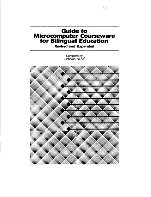 Guide to Microcomputer Courseware for Bilingual Education PDF