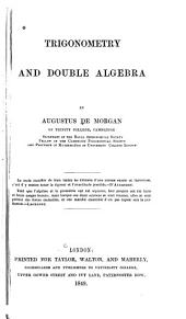 Trigonometry and Double Algebra