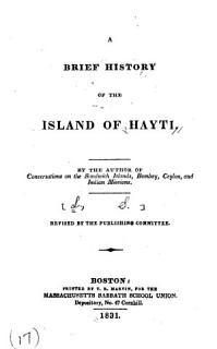 A Brief History of the Island of Hayti Book