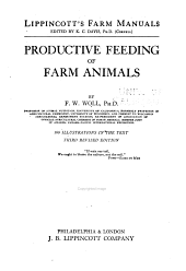 Productive Feeding of Farm Animals
