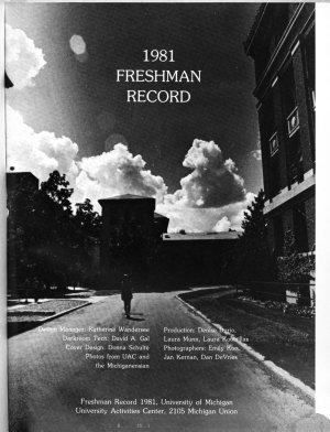 Freshman Record  the University of Michigan PDF