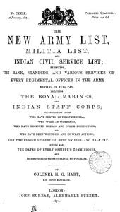 THE NEW ARMY LIST AND INDIAN CIVIL SERVICE LIST
