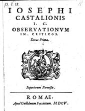 Observationes in criticos