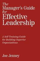 The Manager s Guide for Effective Leadership PDF