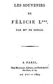 Les souvenirs de Félicie L. ...