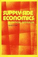 Supply Side Economics Book