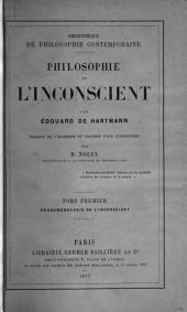 Philosophie de l'inconscient: Volume 1