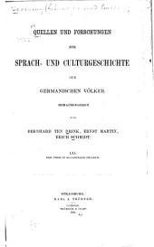 Quellen und Forschungen zur Sprach- und Culturgeschichte der germanischen Völker: Bände 61-65