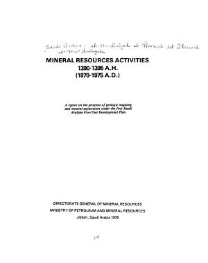 Mineral Resources Activities
