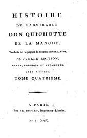 Histoire de l'admirable Don Quichotte de la Manche, traduite de l'espagnol: Volume4