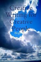 Creative Writing for Creative People  Beginners PDF
