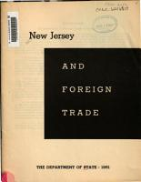 New Jersey and Foreign Trade PDF