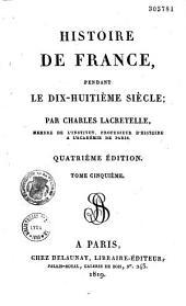 Histoire de France, pendant le dix-huitième siècle: Volume1
