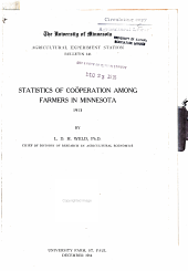 Statistics of cooperation among farmers in Minnesota, 1913: Volumes 137-152