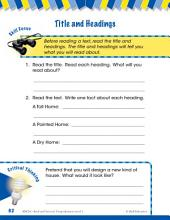 Read & Succeed Comprehension Level 1: Title and Headings Passages and Questions