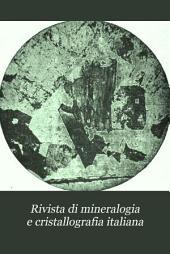 Rivista di mineralogia e cristallografia italiana: Volumi 15-20