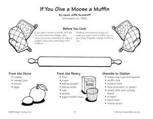 If You Give A Moose A Muffin Orange Muffins Recipe Book PDF