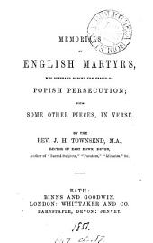 Memorials of English martyrs; with some other pieces, in verse