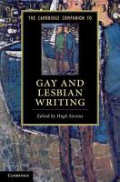 The Cambridge Companion to Gay and Lesbian Writing PDF