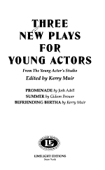 Three New Plays for Young Actors