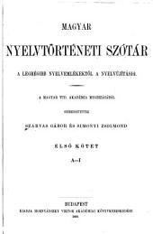 Lexicon linguae hungaricae aevi antiquioris