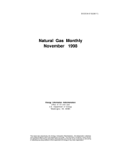 Natural Gas Monthly: November 1998