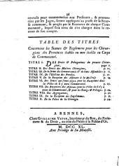 Declaration du Roy, concernant les chirurgiens des provinces: donnée à Marly le 24 Février 1730, registrée en Parlement le 7 Avril 1740