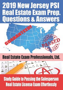 2019 New Jersey PSI Real Estate Exam Prep Questions and Answers