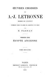 Œuvres choisies de A.-J. Letronne, membre de l'Institut: sér. Géographie et cosmographie (2 v., 1883)