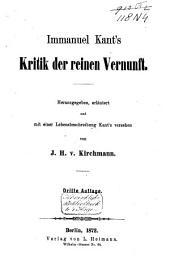 Immanuel Kant's sämmtliche Werke: Band 1