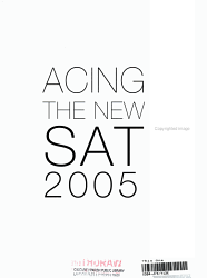 Acing The New Sat 2005 Book PDF