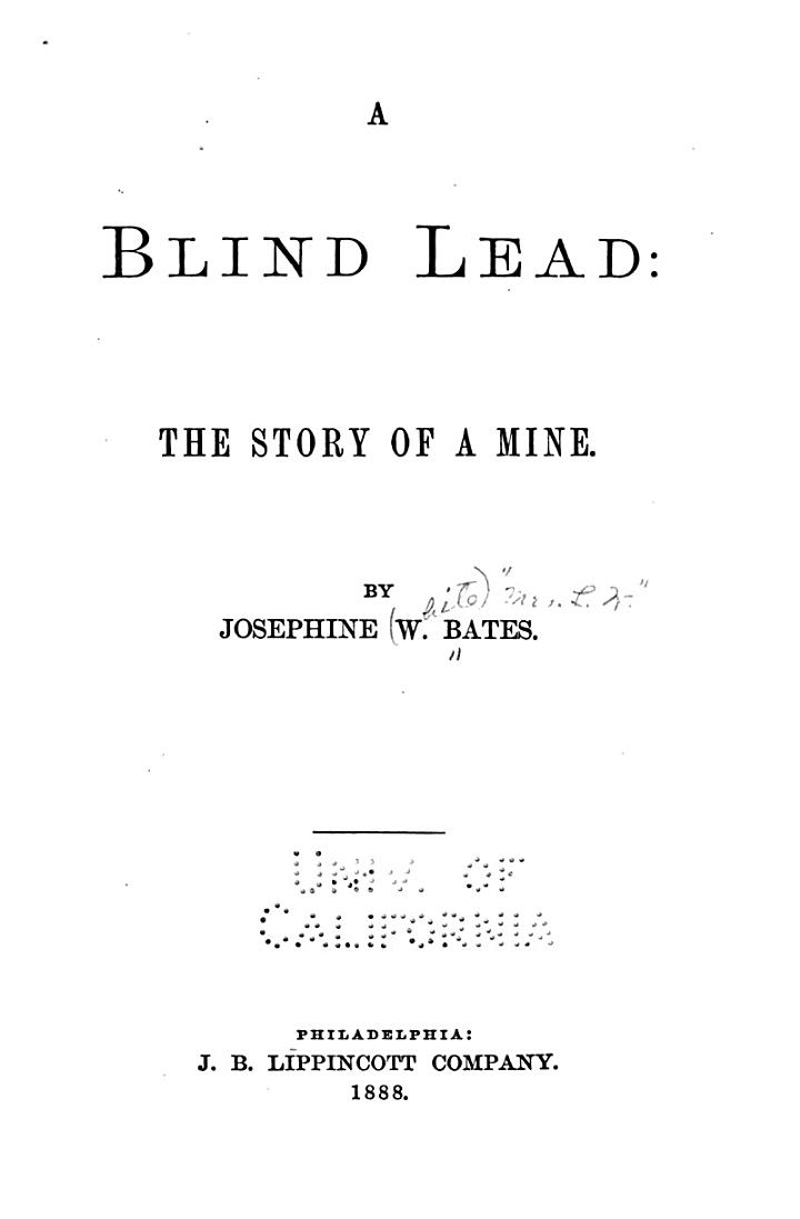 A Blind Lead