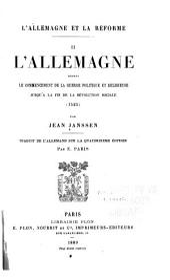 L'Allemagne et la reéforme: Traduit de l'Allemand, Volume2