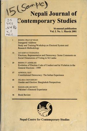 Nepali Journal of Contemporary Studies PDF