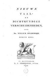 Nieuwe taal- en dichtkundige verscheidenheden: Volume 1