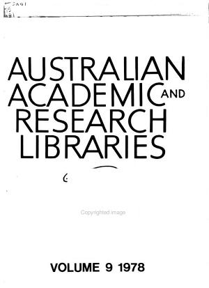 Australian Academic and Research Libraries PDF