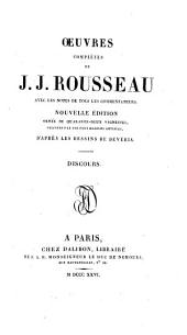 Oeuvres complètes de J.J. Rousseau: Volume1