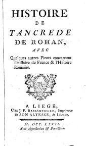 Histoire de Tancrede de Rohan