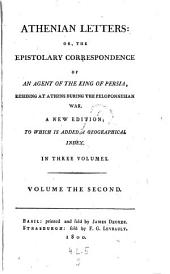 Athenian letters: or the epistolary correspondence of an agent of the King of Persia, residing at Atheus during the Peloponnesian war. A new ed. - Basil (usw.), Decker 1800