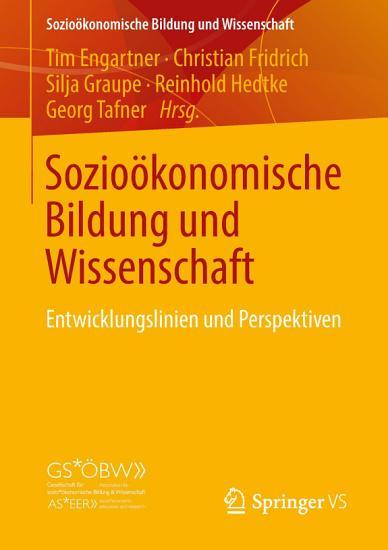 Sozio  konomische Bildung und Wissenschaft PDF