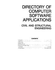 A Directory of Computer Software Applications  Civil   Structural Engineering  1978 September 1980 PDF