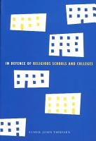 In Defence of Religious Schools and Colleges PDF