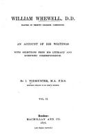 William Whewell  D  D   Master of Trinity College  Cambridge0 PDF