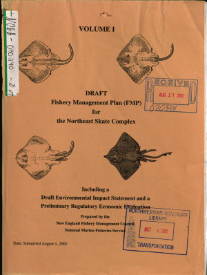 Northeast Skate Complex Fishery Management Plan  FMP  PDF
